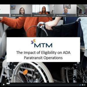 The Impact of Eligibility on ADA Paratransit Operations webinar