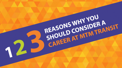 Banner reads the top 3 reasons to consider a career at MTM Transit, a company with core values, a Total Rewards program, and more.